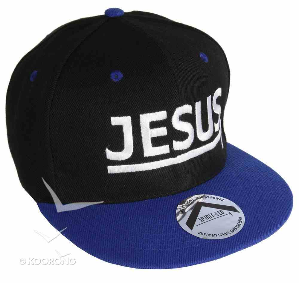 Snapback Cap: Jesus Blue/Black Soft Goods