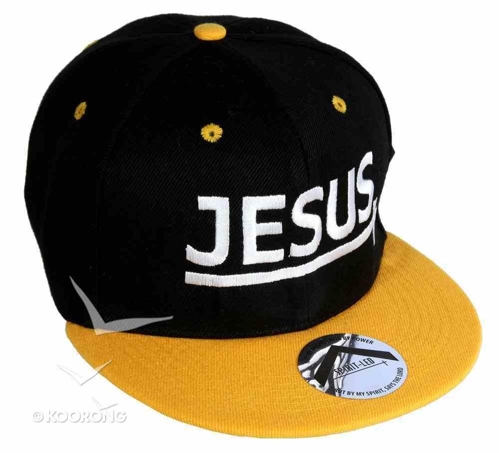 Snapback Cap: Jesus Yellow/Black Soft Goods