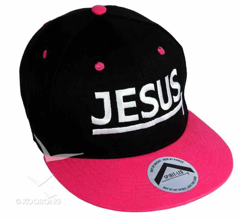 Snapback Cap: Jesus Pink/Black Soft Goods