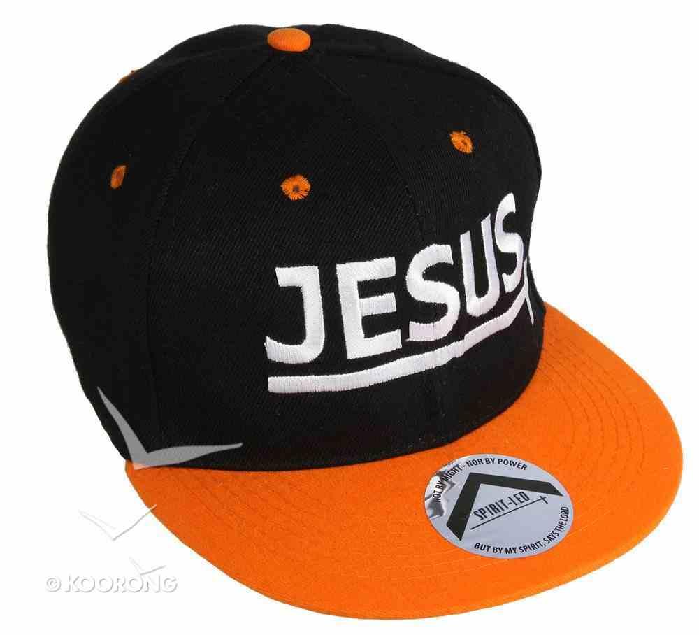 Snapback Cap: Jesus Orange/Black Soft Goods