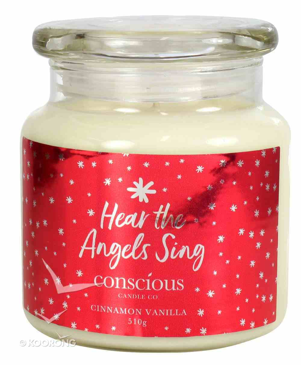 Quality Soy Christmas Candle: Hear the Angels Sing, Cinnamon Vanilla Homeware