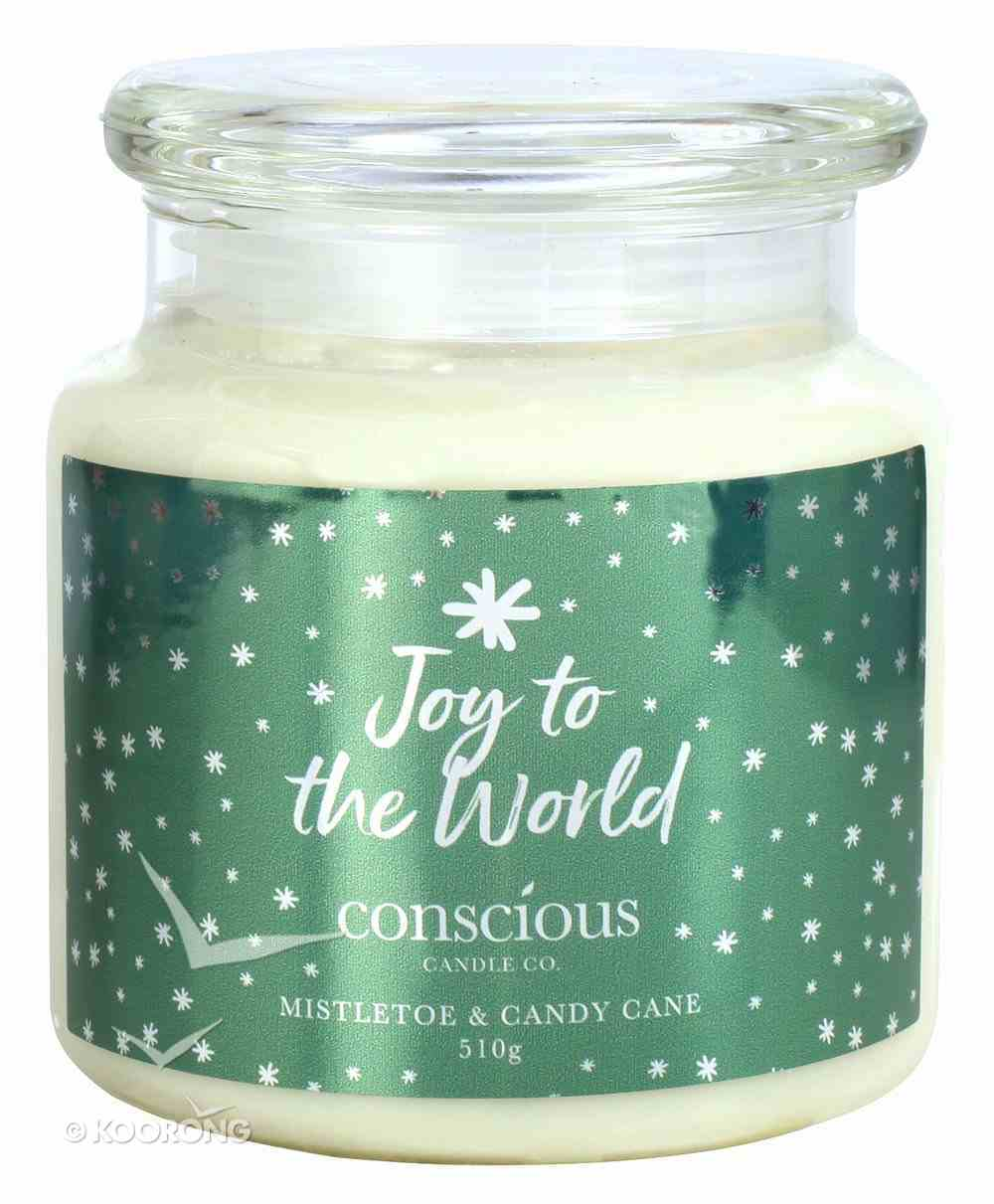 Quality Soy Christmas Candle: Joy to the World, Crushed Candy Cane Homeware