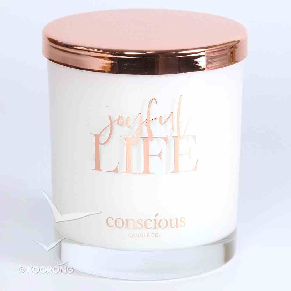 Luxury Soy Candle: Joyful Life Triple Scented Parisian Lime Blossom, 55+ Hours Burn Time (Hab 3:18) Homeware