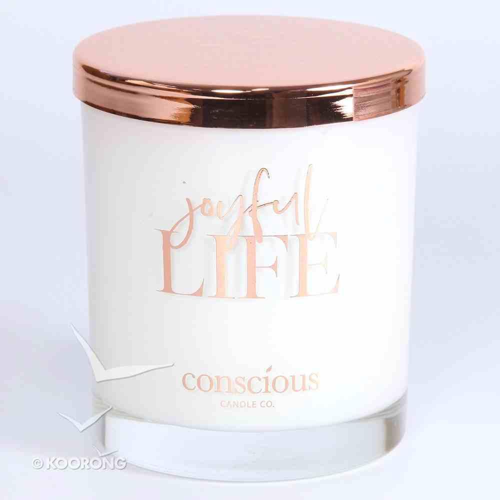 Luxury Soy Candle: Joyful Life Triple Scented Coconut & Elderflower, 55+ Hours Burn Time (Hab 3:18) Homeware