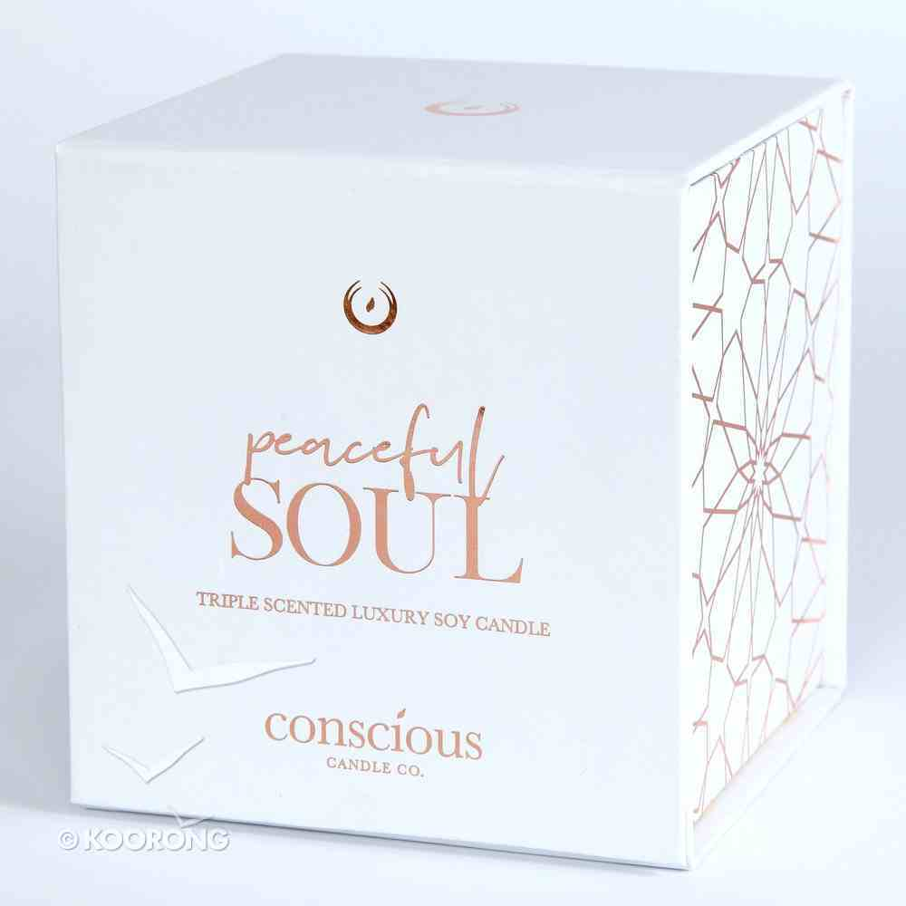Luxury Soy Candle: Peaceful Soul Triple Scented Vanilla Bean, 55+ Hours Burn Time (John 14:27) Homeware