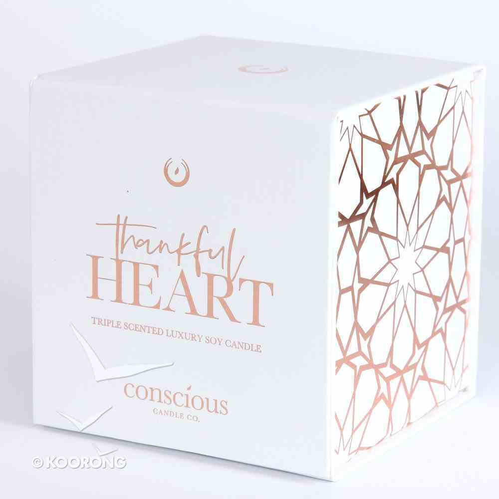 Luxury Soy Candle: Thankful Heart Triple Scented French Pear, 55+ Hours Burn Time (1 Thes 5:18) Homeware