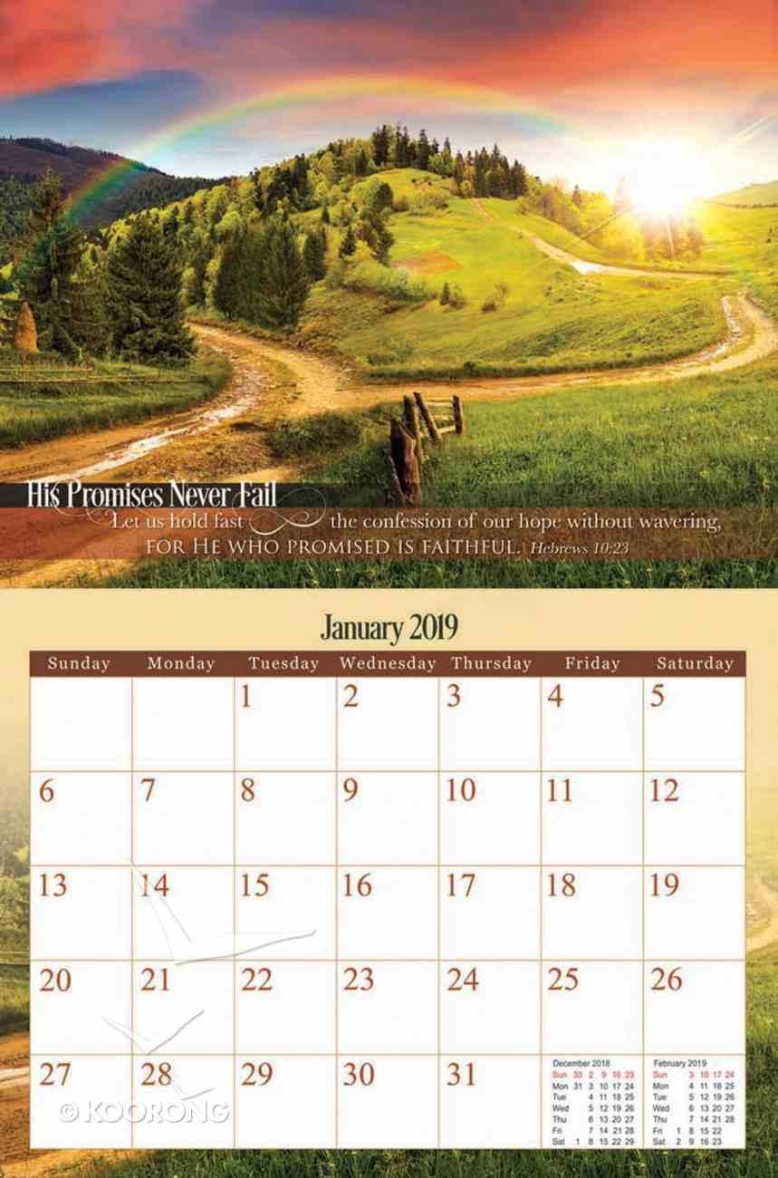2019 Wall Calendar: His Promises Never Fail Calendar