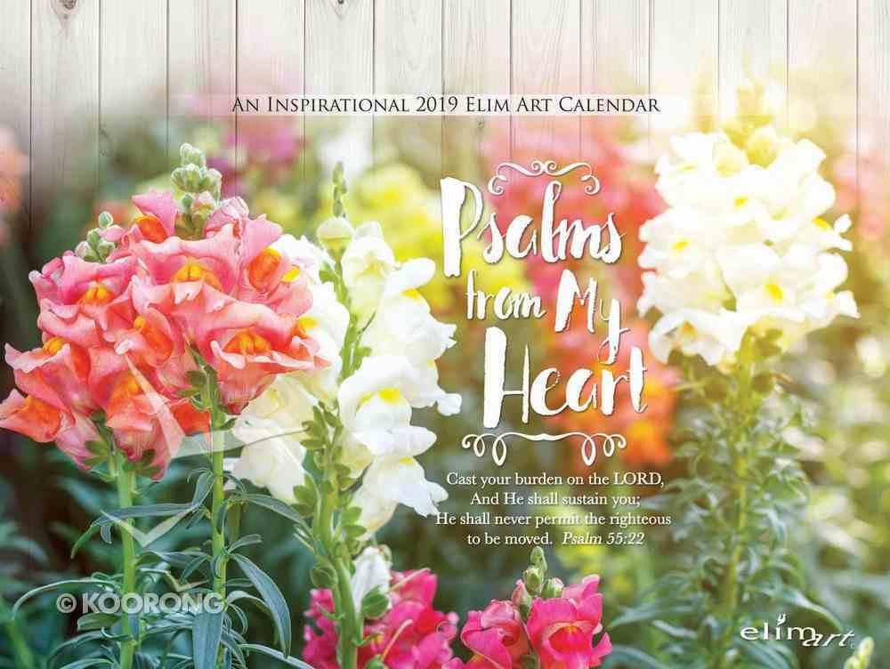 2019 Wall Calendar: Psalms From My Heart Calendar