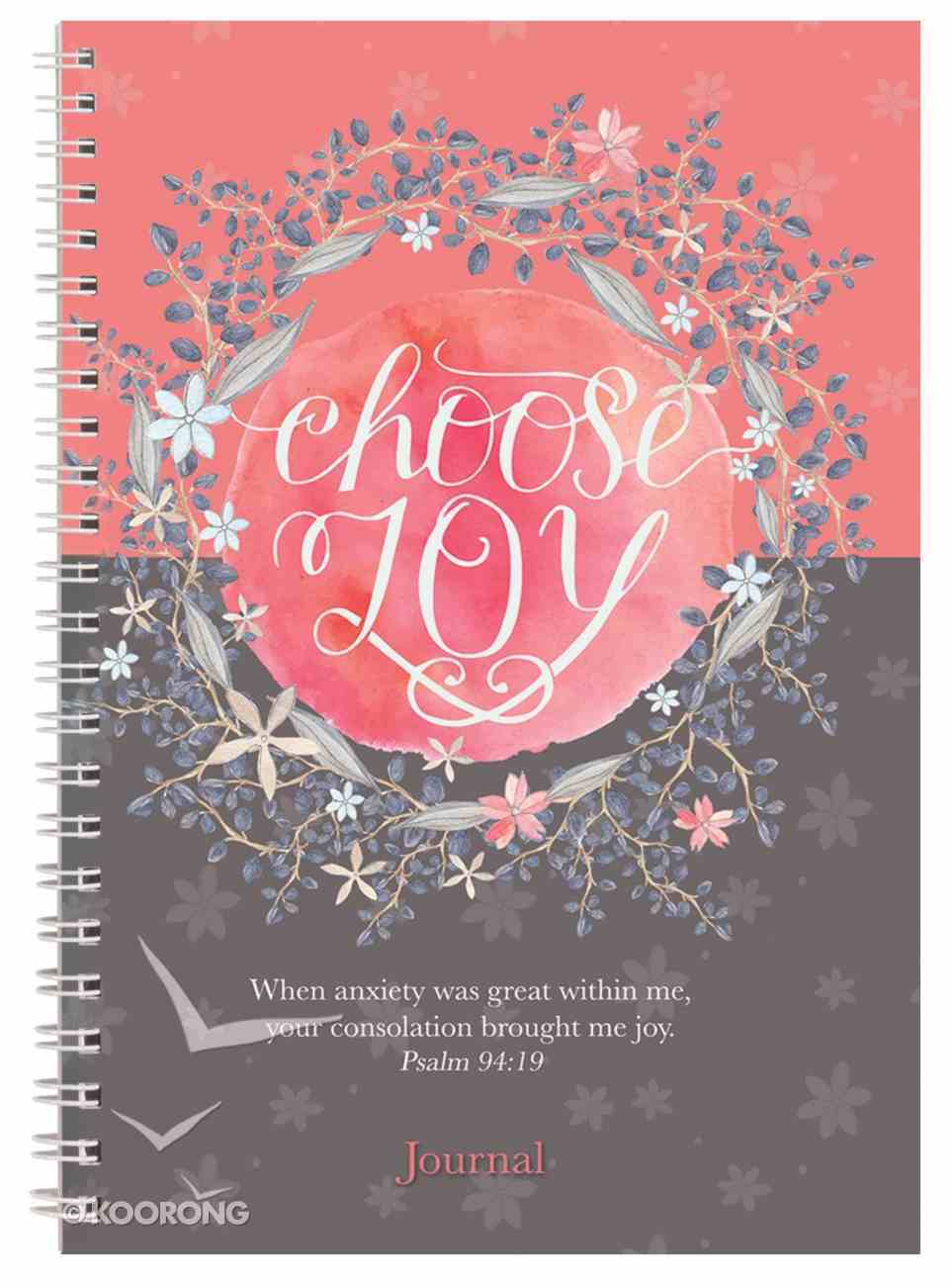 Spiral Softcover Journal: Choose Joy Spiral