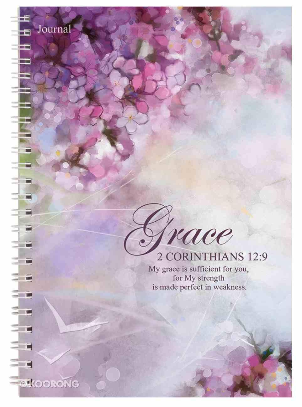 Spiral Softcover Journal: Grace Spiral