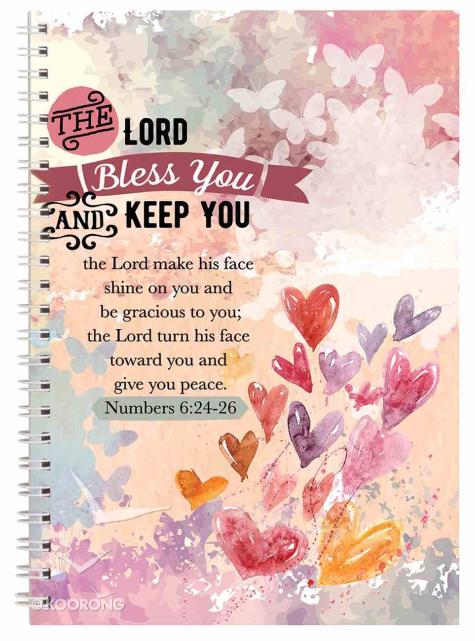 Spiral Softcover Journal: The Lord Bless You and Keep You Spiral