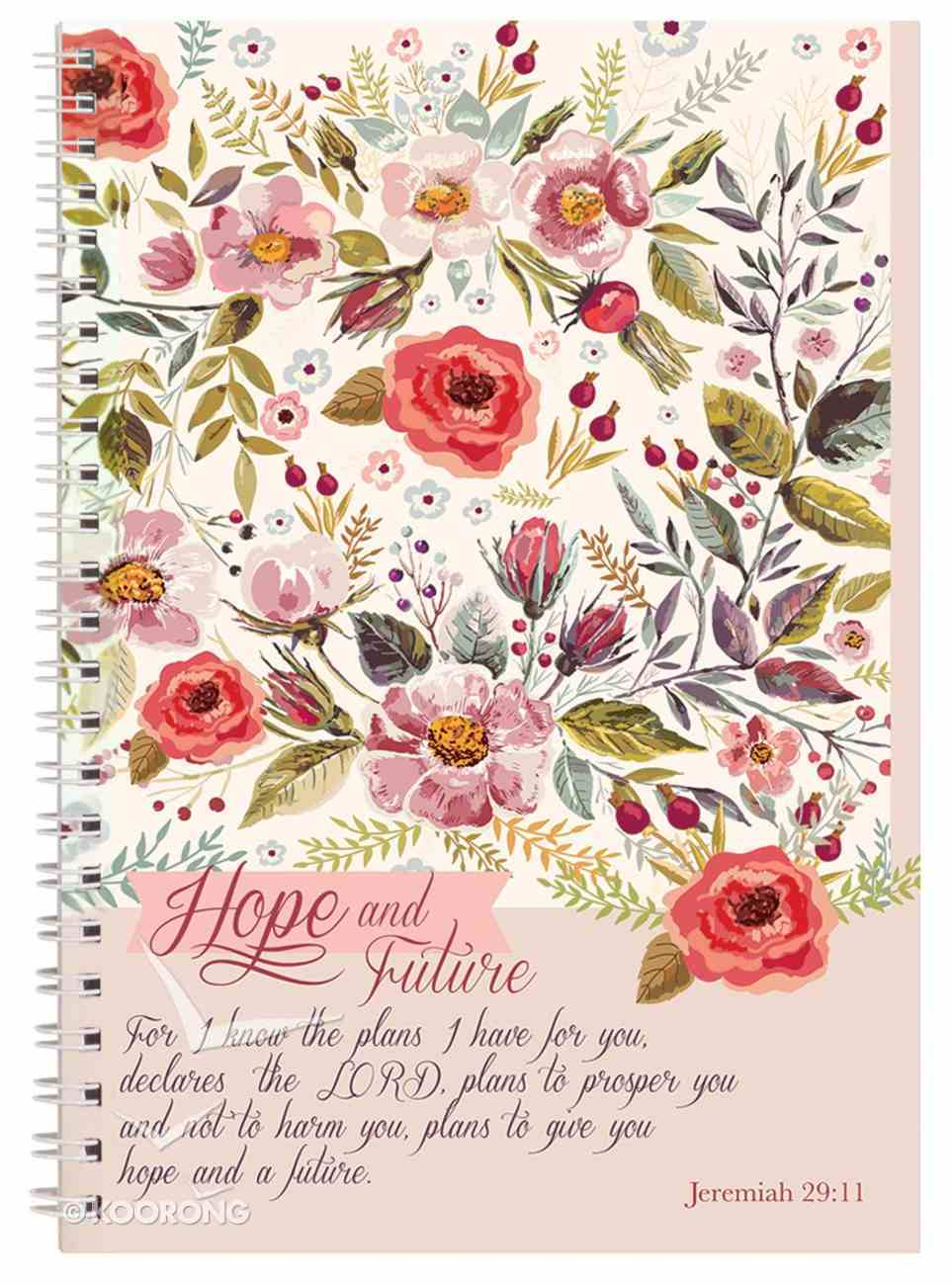 Spiral Softcover Journal: Hope and Future Spiral