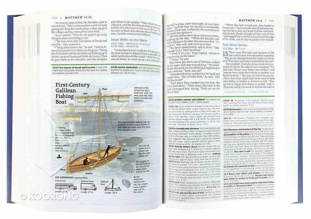 NIV Faithlife Illustrated Study Bible Gray/Blue Premium Imitation Leather