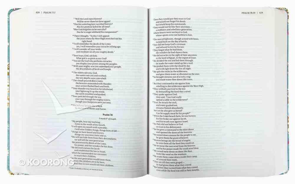 NIV Holy Bible For Girls Journal Edition Turquoise Elastic Closure (Black Letter Edition) Hardback