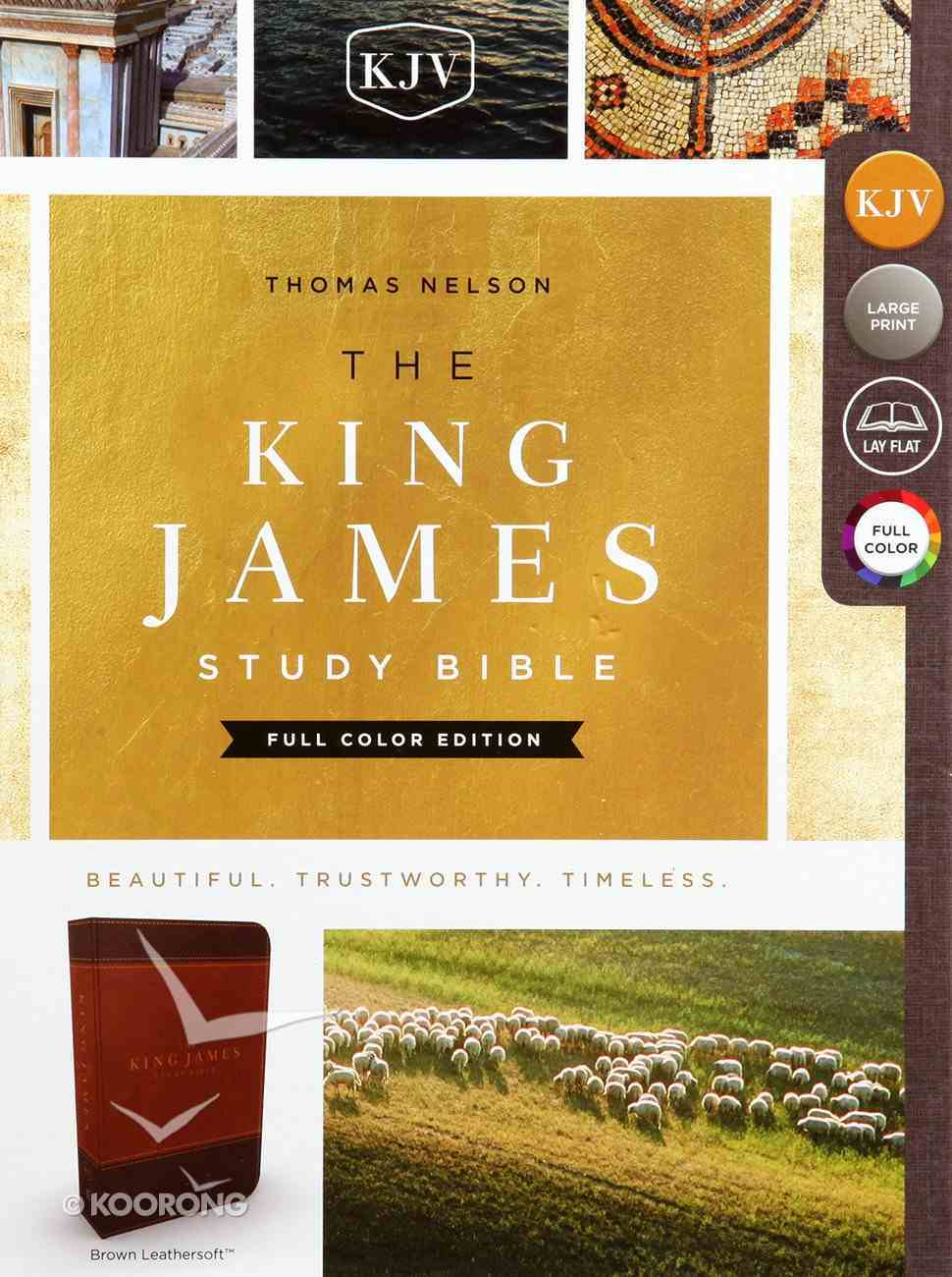 KJV Study Bible Brown Full-Color Edition (Red Letter Edition) Premium Imitation Leather