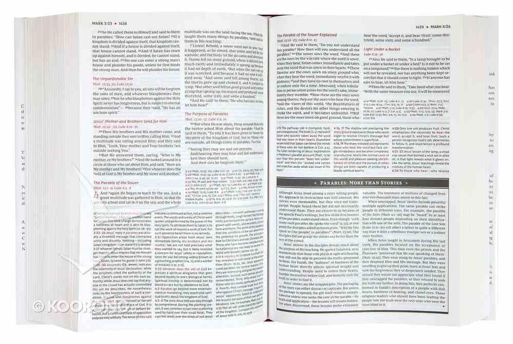 NKJV Study Bible Red (Black Letter Edition) Imitation Leather