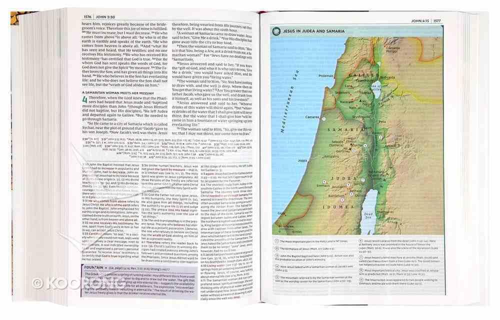NKJV Study Bible Black Full-Color (Black Letter Edition) Imitation Leather