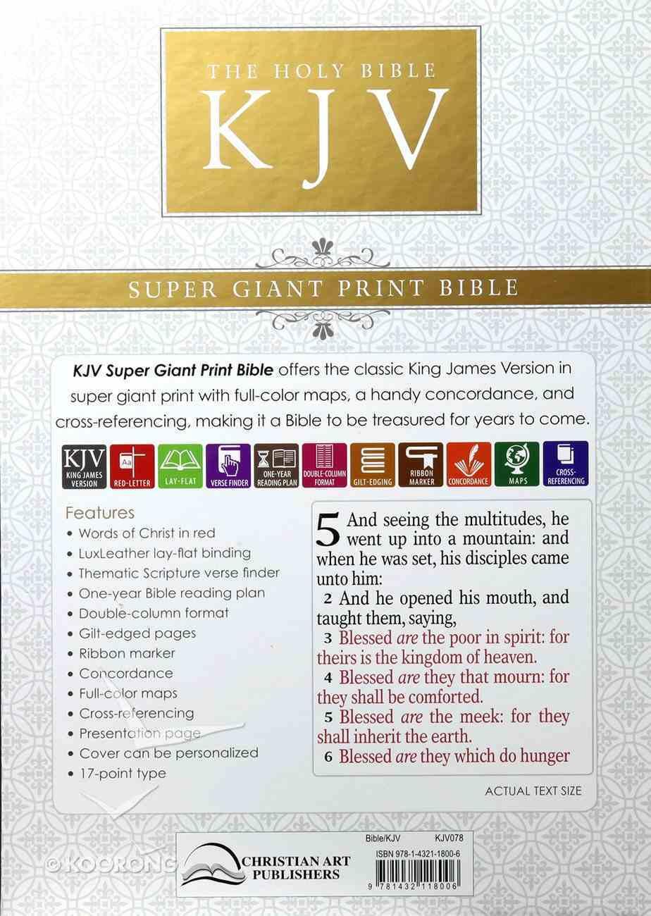 KJV Super Giant Print Bible Purple Red Letter Edition Imitation Leather