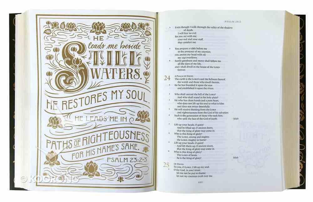 ESV Illuminated Bible Art Journaling Edition Green With Paper Dust Jacket (Black Letter Edition) Hardback