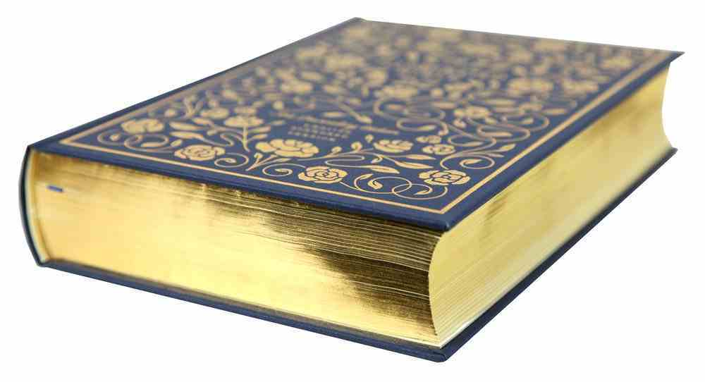 ESV Illuminated Bible Art Journaling Edition Blue With Slipcase (Black Letter Edition) Fabric Over Hardback