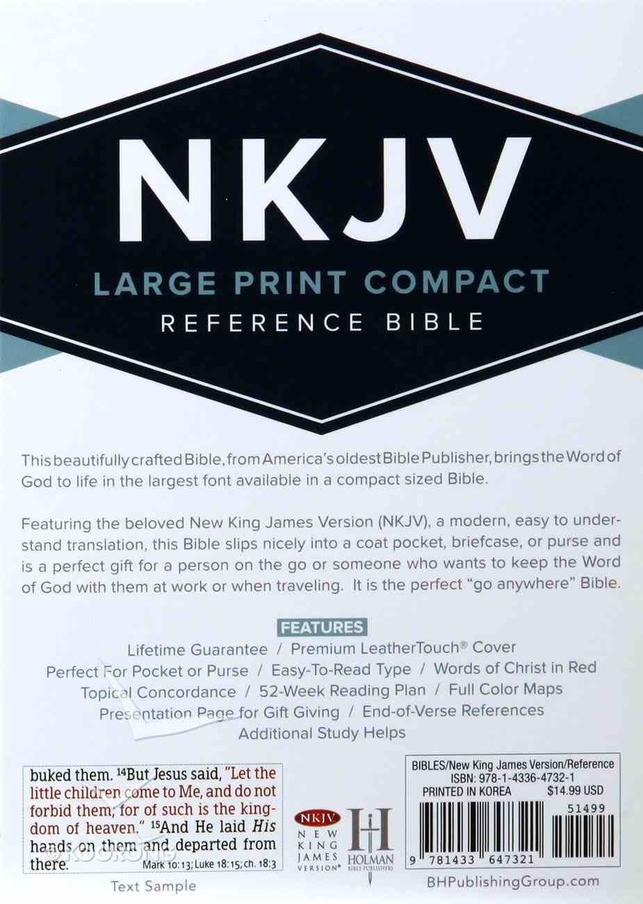 NKJV Large Print Compact Reference Bible Pink Red Letter Edition Imitation Leather