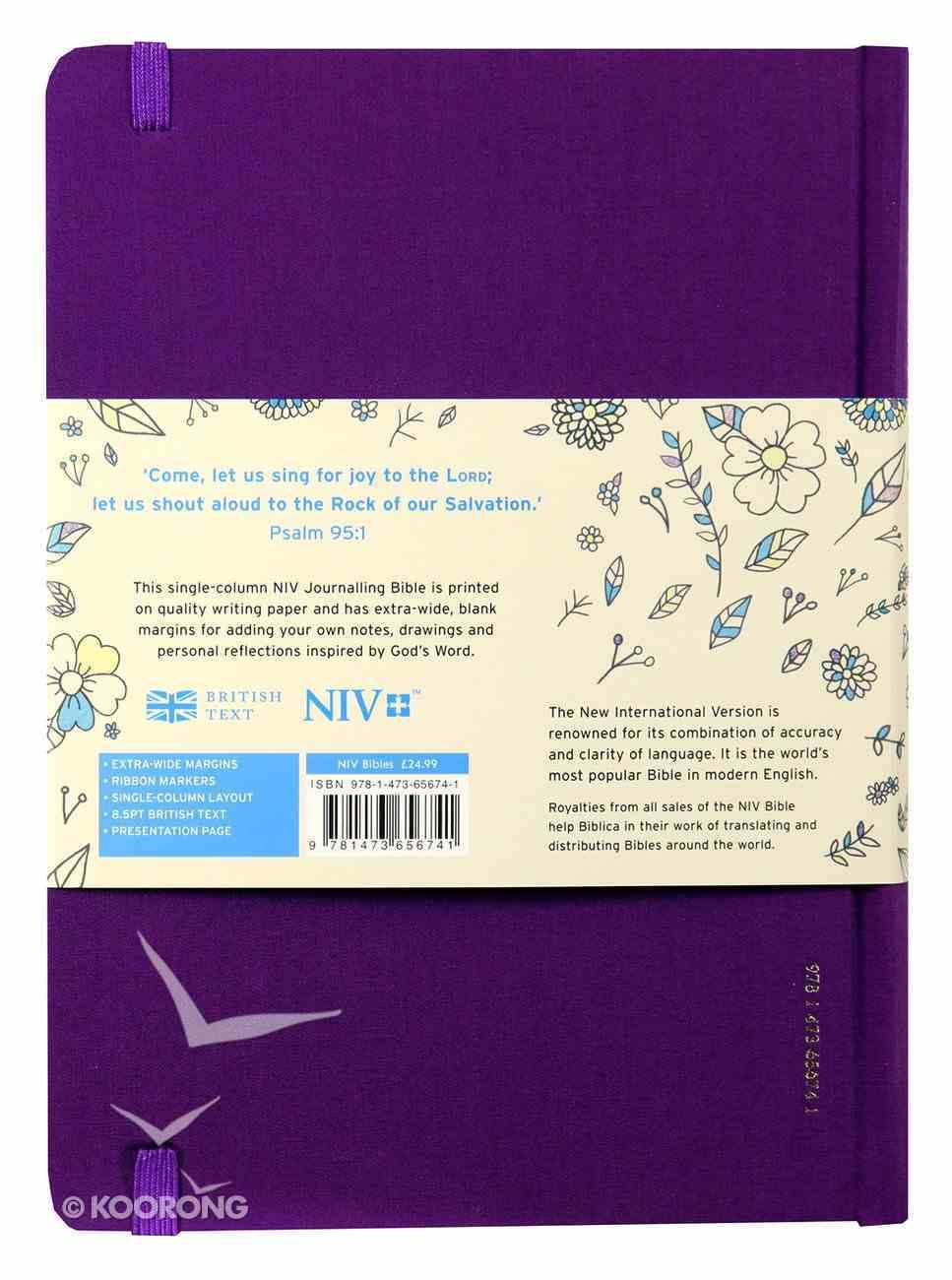 NIV Journalling Bible Purple With Elastic Strap Hardback