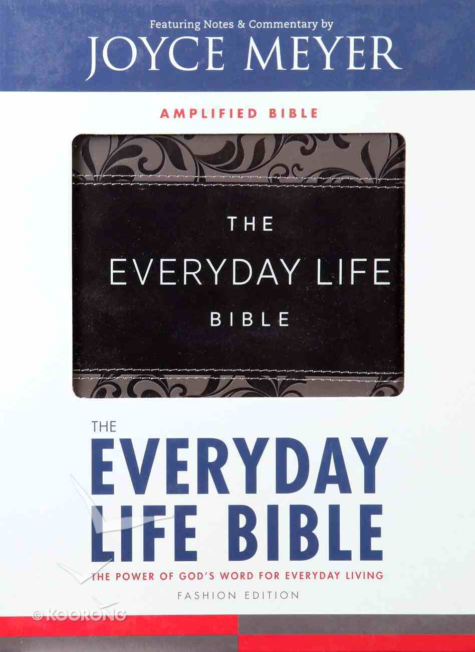 Amplified New Everyday Life Bible, the Gray Imitation Leather