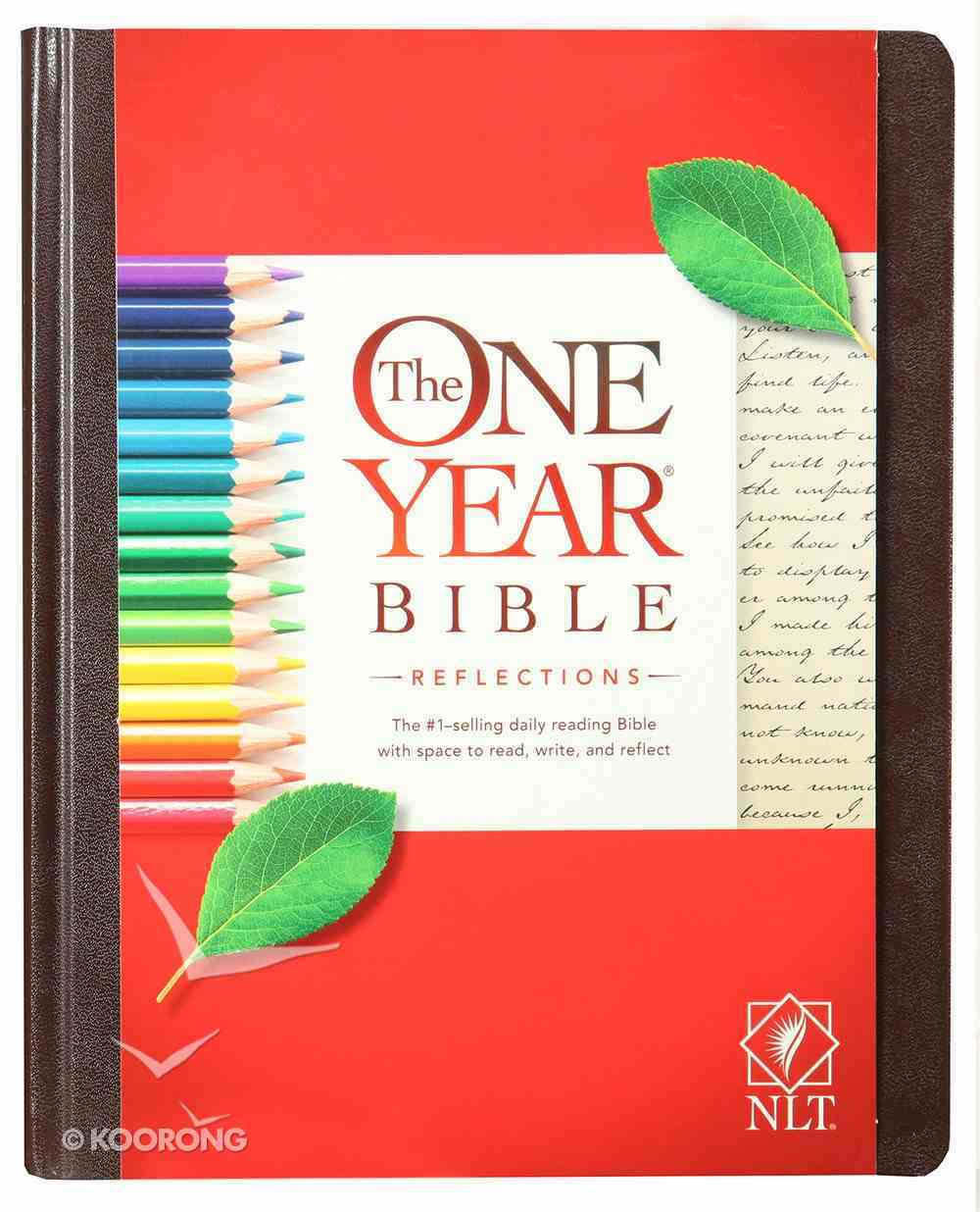 NLT One Year Bible Reflections Edition Brown (Black Letter Edition) Hardback
