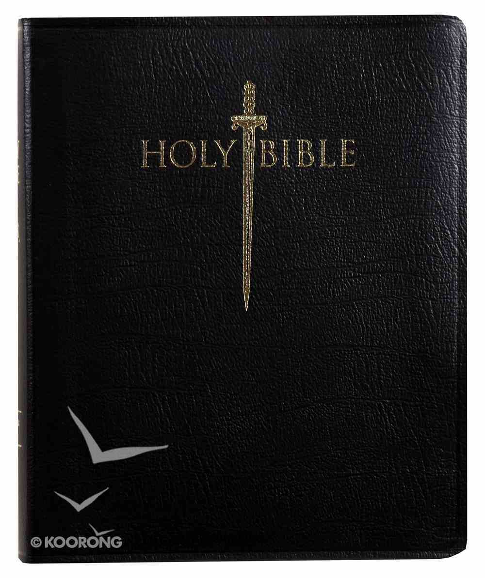 Kjver Sword Study Bible Giant Print Black Indexed (Red Letter Edition) Genuine Leather