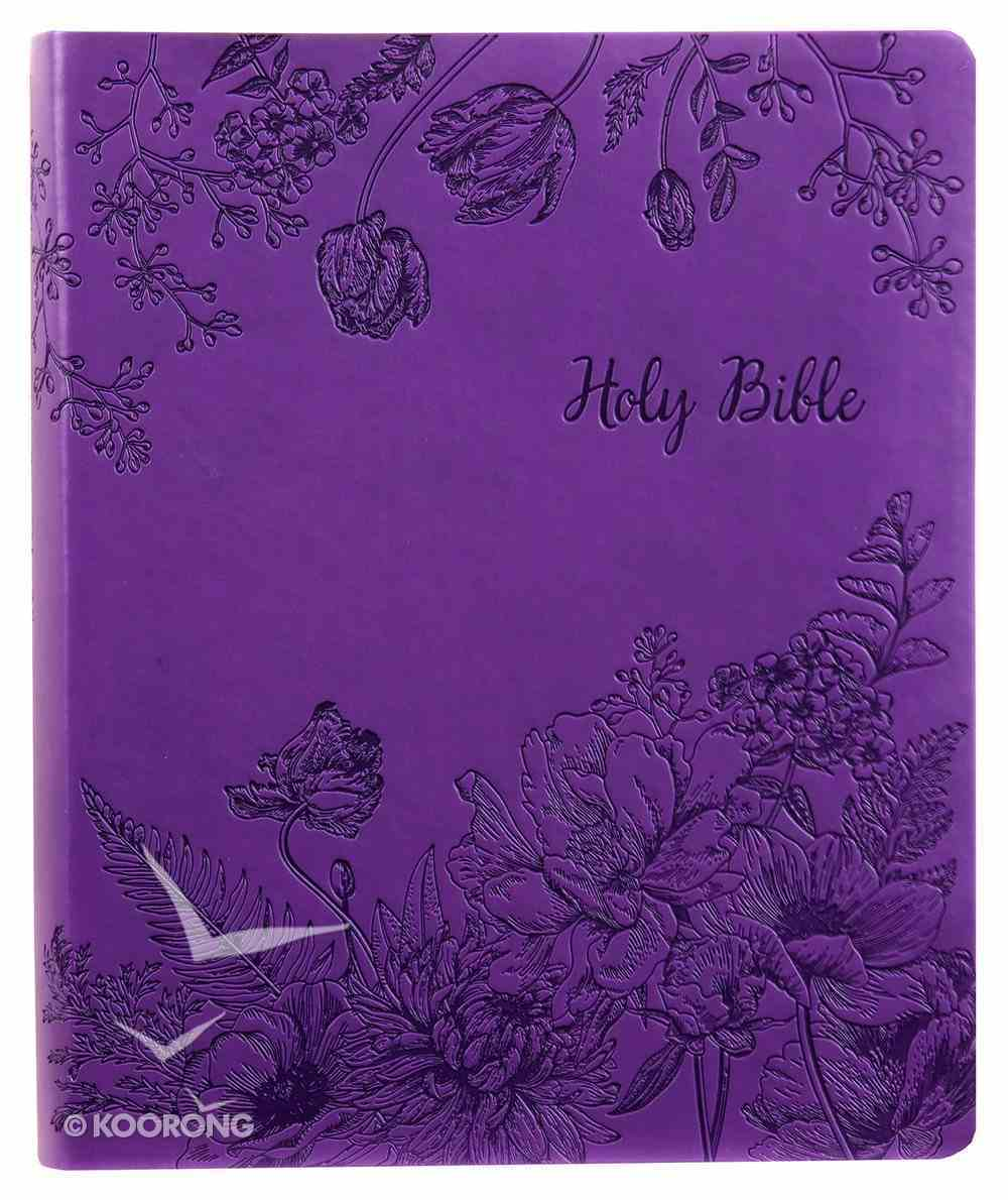 Kjver Sword Study Bible Giant Print Designer Purple (Red Letter Edition) Imitation Leather