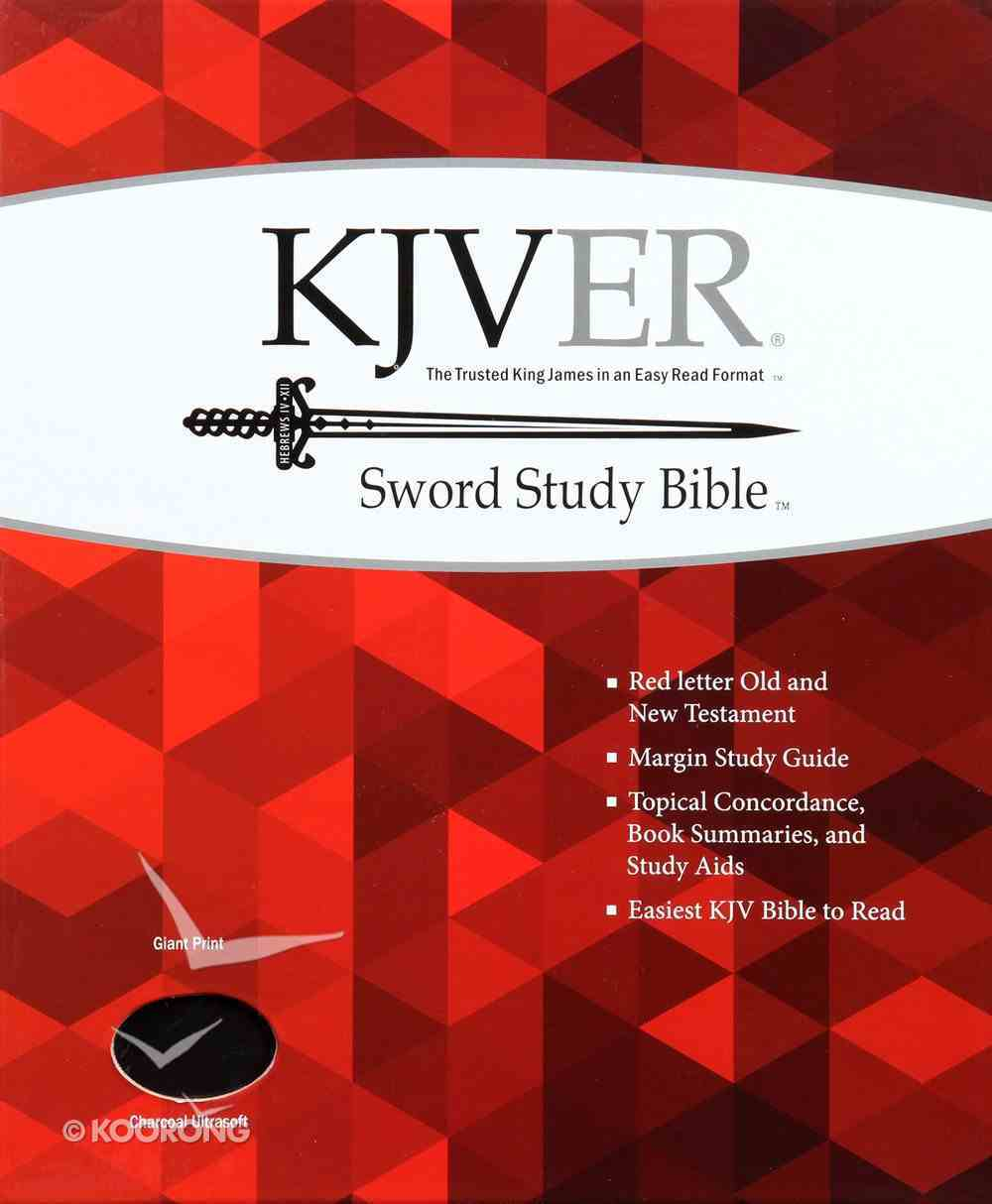 Kjver Sword Study Bible Giant Print Charcoal (Red Letter Edition) Imitation Leather
