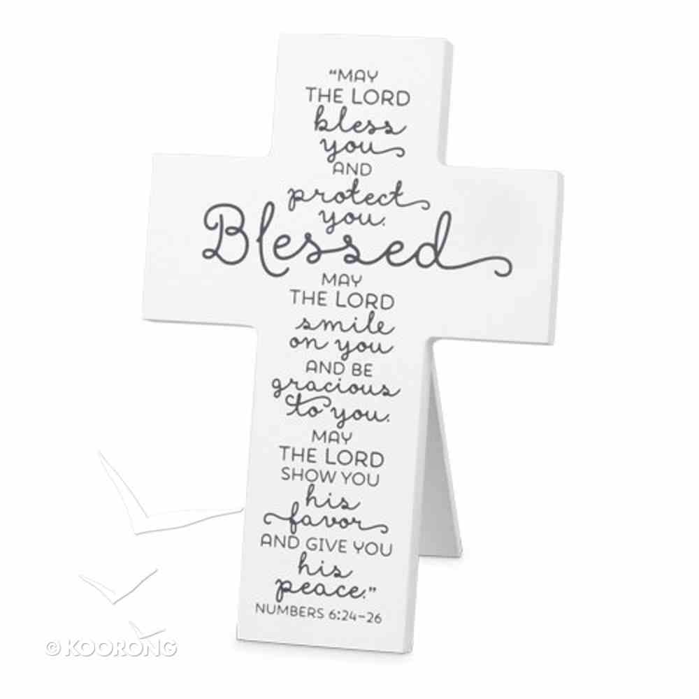 Mdf Cross: Baby Blessed, White (Numbers 6:24-26) Homeware