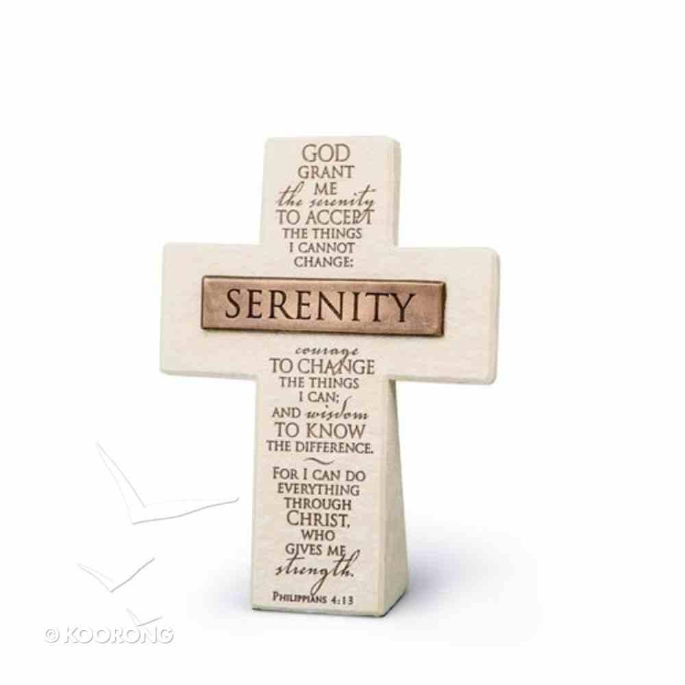 Cross Cast Stone: Bronze Title Bar Serenity (Phil 4:13) Homeware