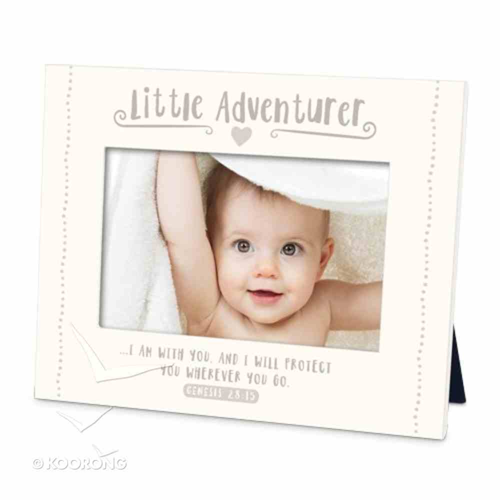 Frame Little Adventurer: I Am With You and I Will Protect You, Cream (Genesis 28:15) Plaque