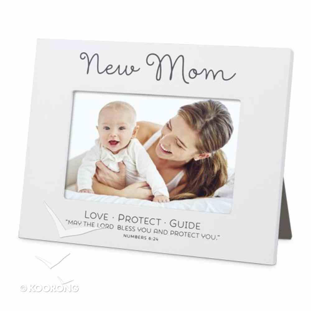 Mdf Frame: New Mum Blessed, White (Number 6:24) Homeware