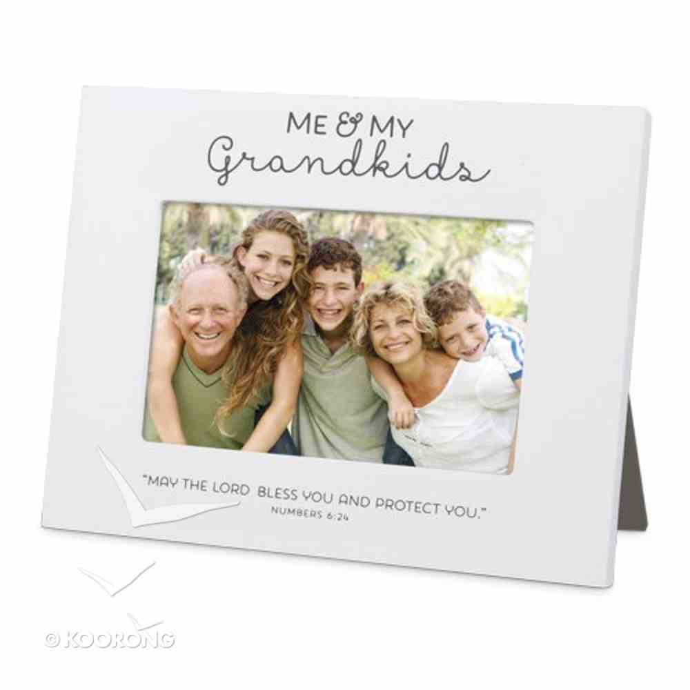 Mdf Frame: Me & My Grandkids Blessed, White (Numbers 6:24) Homeware