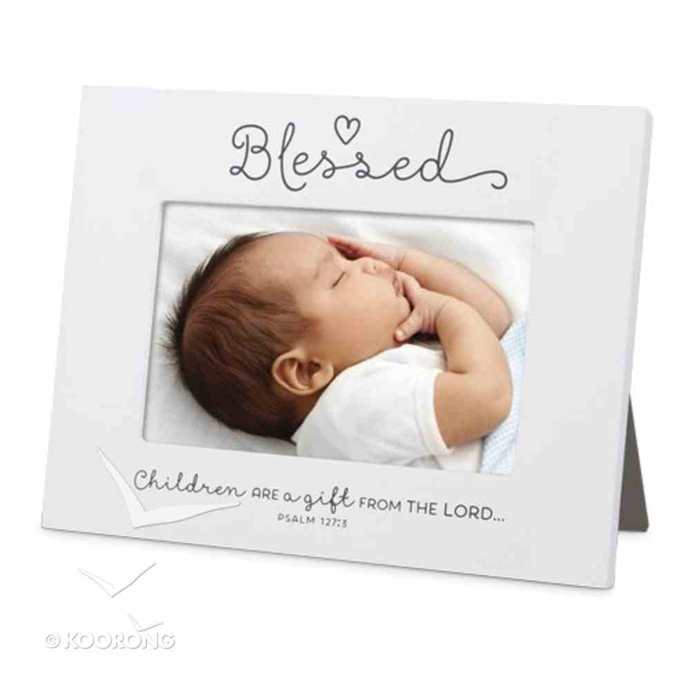 Mdf Ceramic Frame: Baby Blessed, White (Psalm 127:3) Homeware