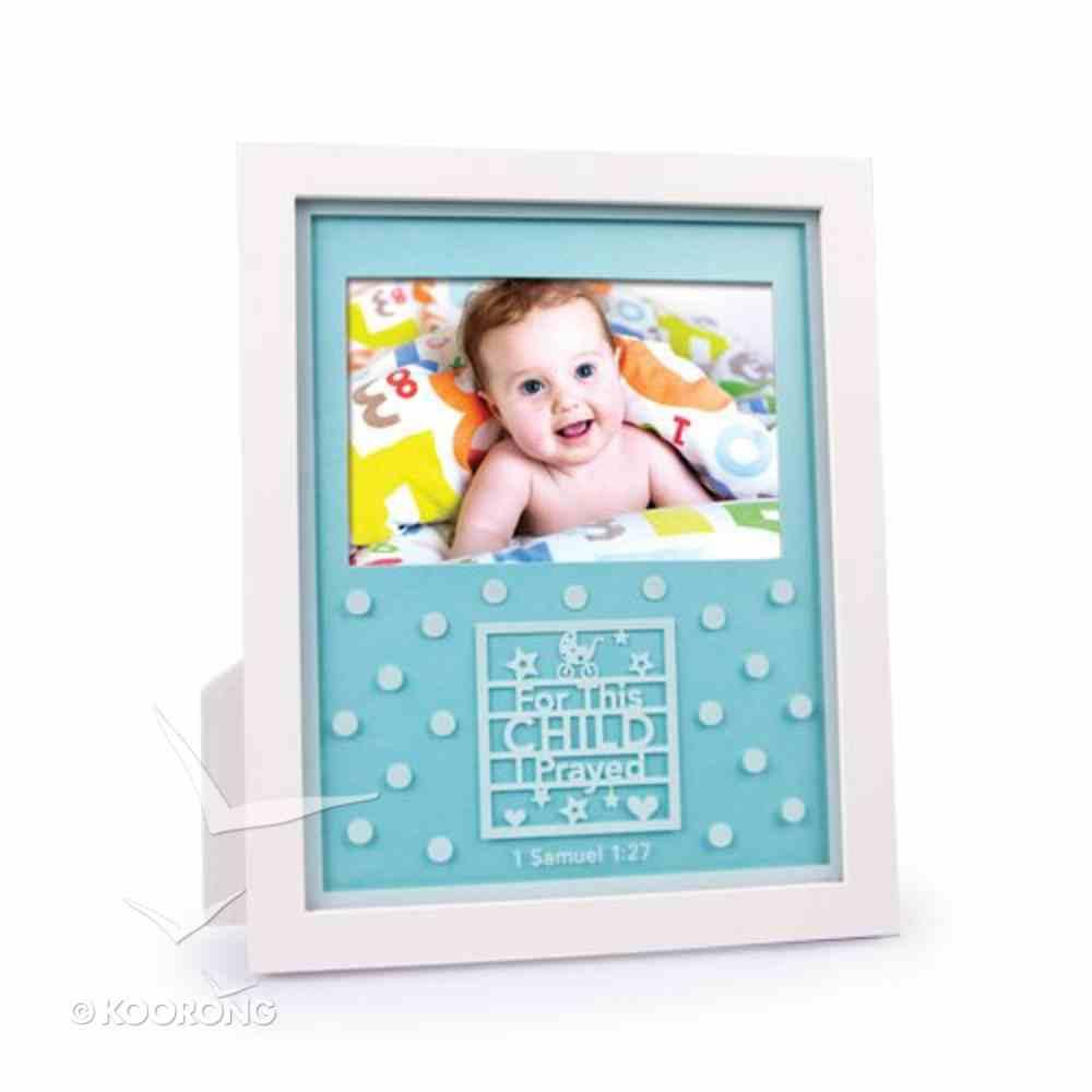 Photo Frame Shadowbox: For This Child I Prayed Aqua (1 Samuel 1:27) Homeware