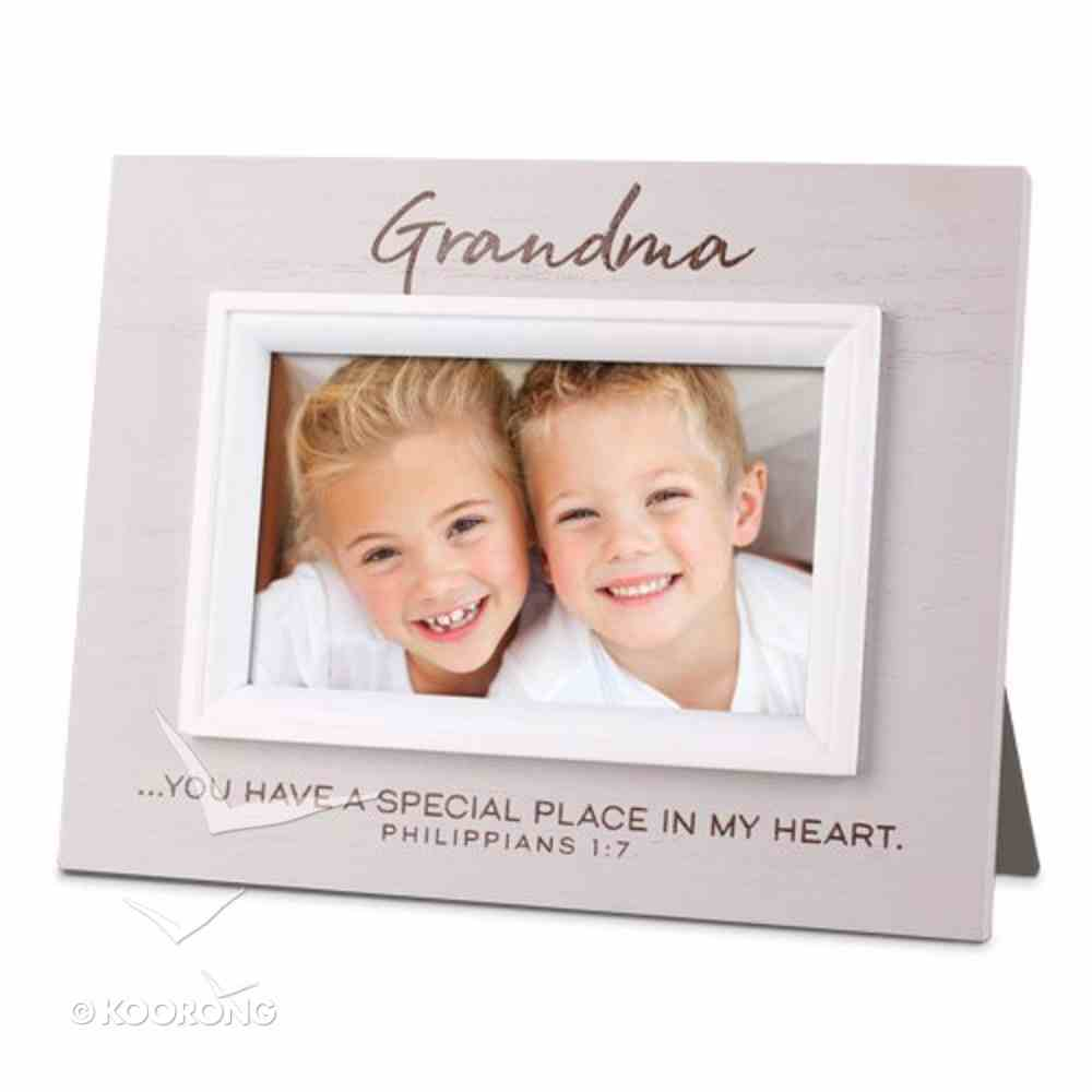 Mdf Textured Frame: Blessings Grandma, Cream (Phil 1:7) Homeware