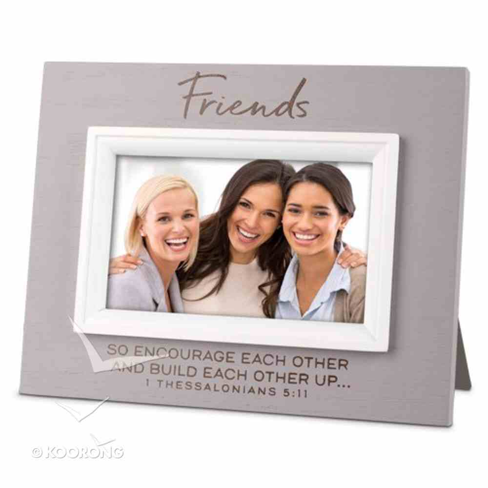 Mdf Textured Frame: Blessings Friend, Cream (1 Thess 5:11) Homeware