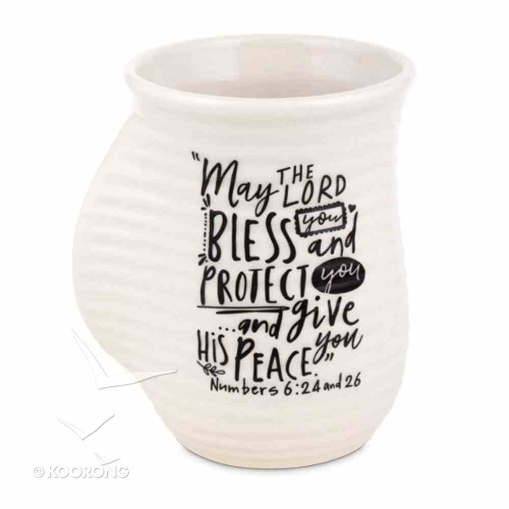 Ceramic Handwarmer Mug Scripture Ink: Blessings, Cream/Black (Numbers 6:24-26) Homeware