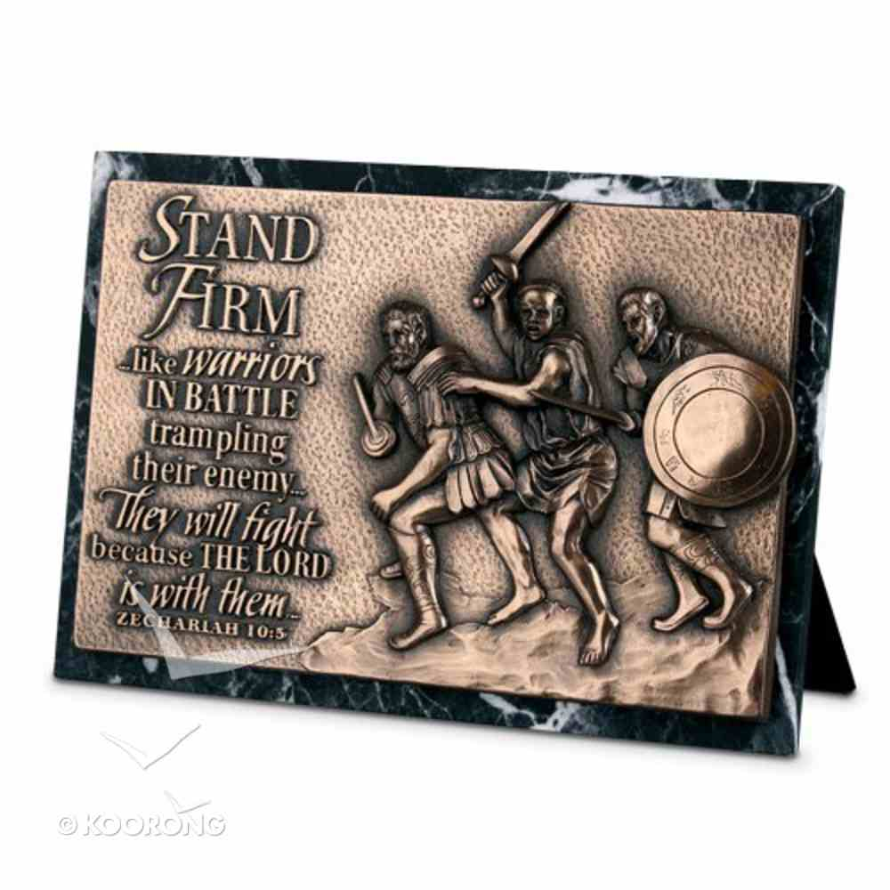 Moments of Faith Sculpture Plaque: Stand Firm Marble (Zechariah 10:5) (Rectangle) Homeware