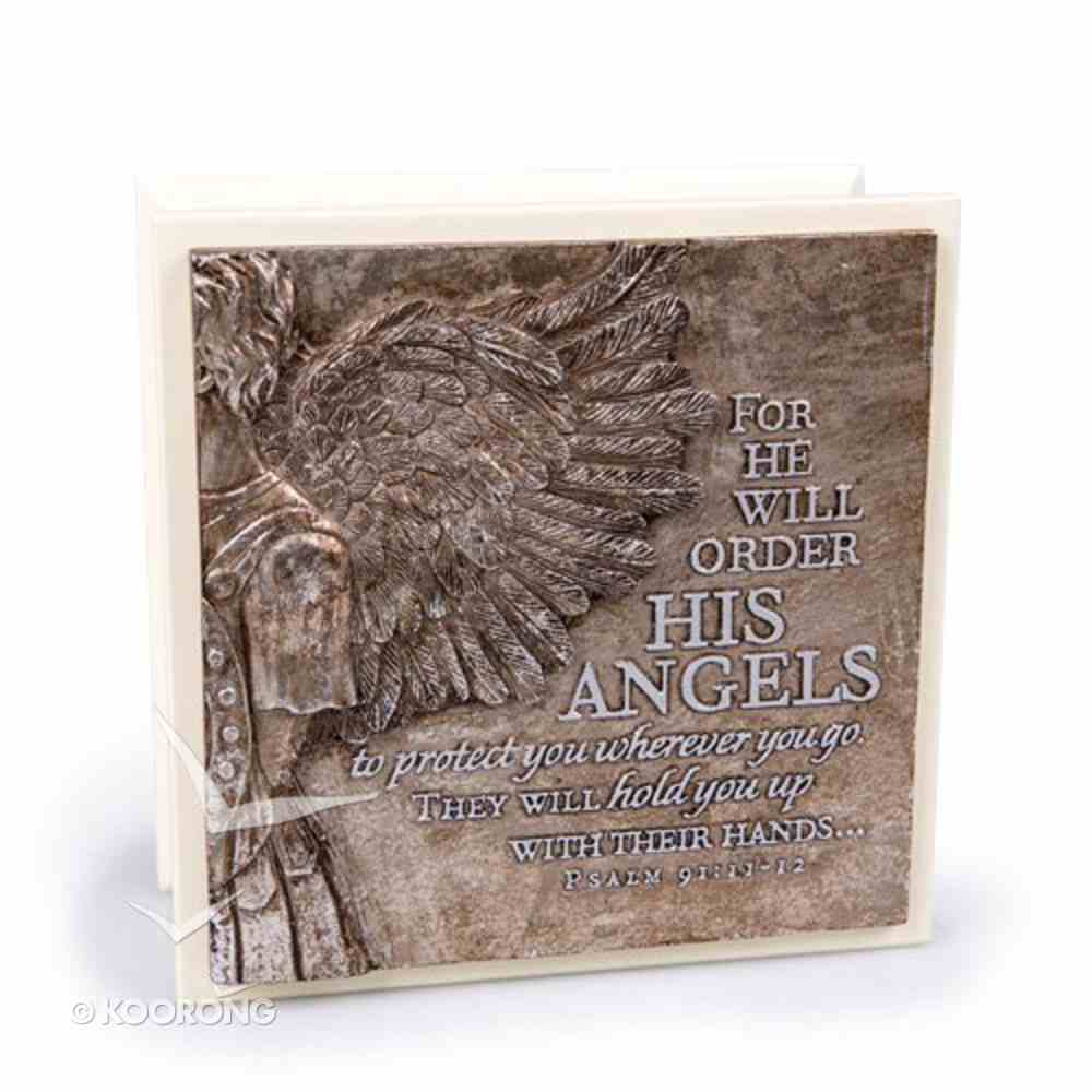 Moments of Faith Sculpture Box: His Angels (Psalm 91:11-12) Box