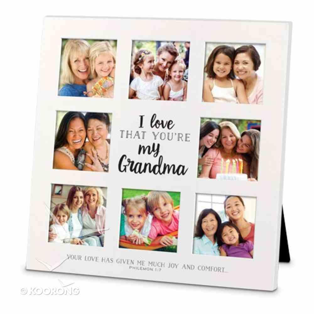 Mdf Ceramic Frame Collage: I Love That You're My Grandma (Philemon 1:7) Homeware