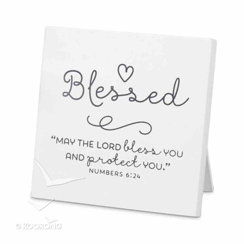 Mdf Plaque: Baby Blessed, White (Numbers 6:24) Plaque