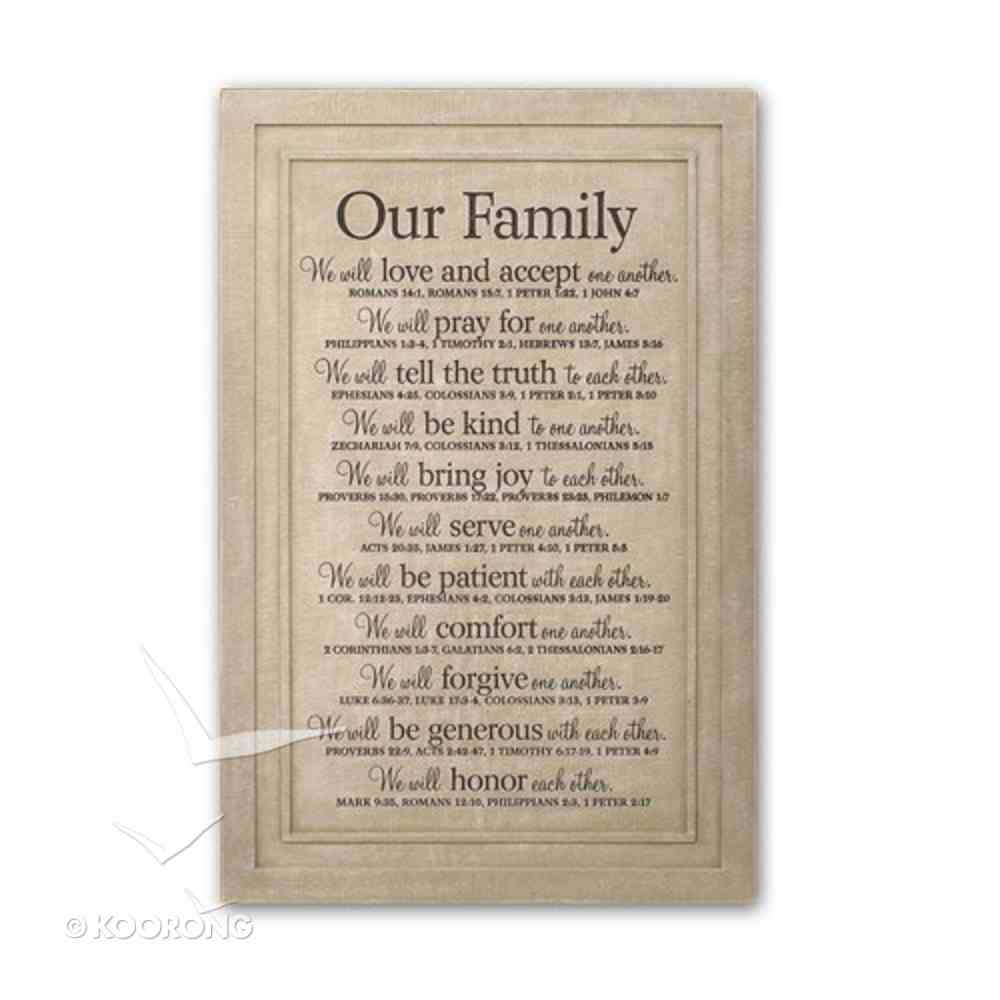 Wall Plaque: Our Family Plaque
