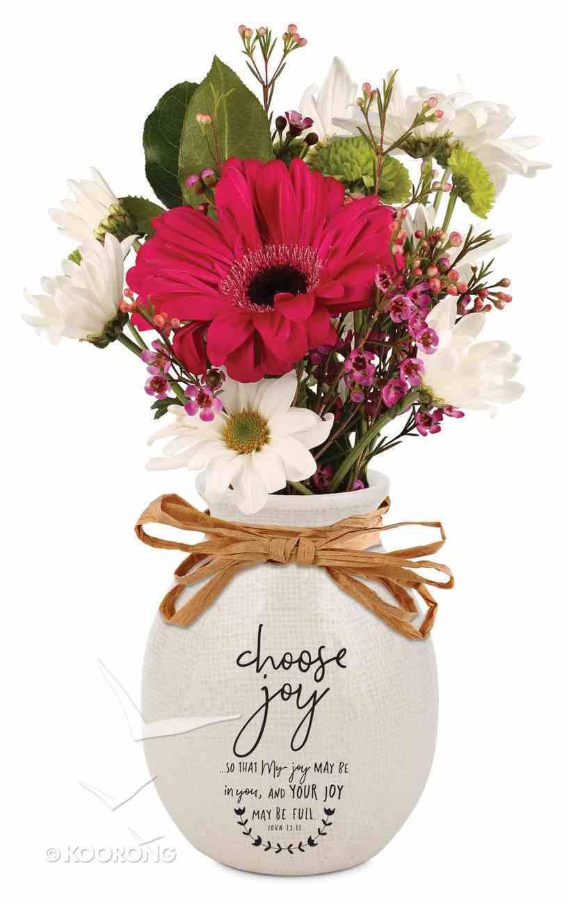 Ceramic Vase Hand Drawn Doodles: Choose Joy (John 15:11) Homeware