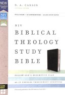 NIV Biblical Theology Study Bible Black Indexed (Black Letter Edition) Bonded Leather