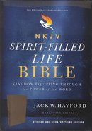 NKJV Spirit-Filled Life Bible Black (Red Letter Edition) (Third Edition) Genuine Leather