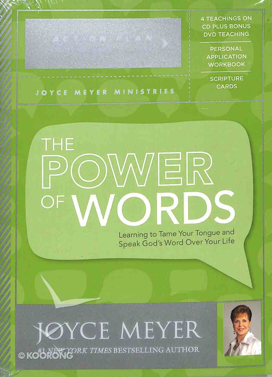 The Power of Words Action Plan (4 Cds + Dvd + Study Guide + Scripture Cards) Pack